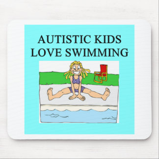 autism autistic kids love swimming mouse pad