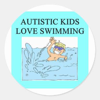autism autistic kids love swimming sticker