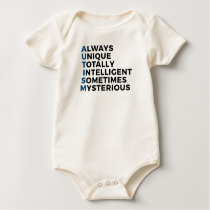 Autism Autistic Unique Intelligent Mysterious Baby Bodysuit