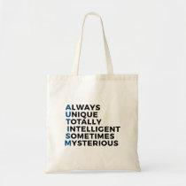 Autism Autistic Unique Intelligent Mysterious Tote Bag