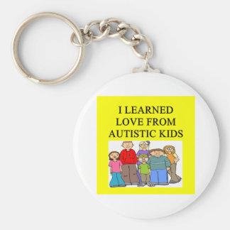 autism autustic kid son daughter love basic round button keychain