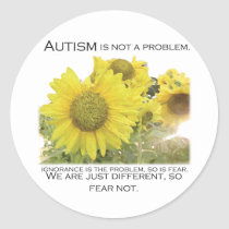 Autism Aware Classic Round Sticker
