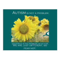 Autism Aware Postcard