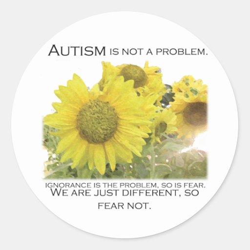 Autism Aware Round Sticker
