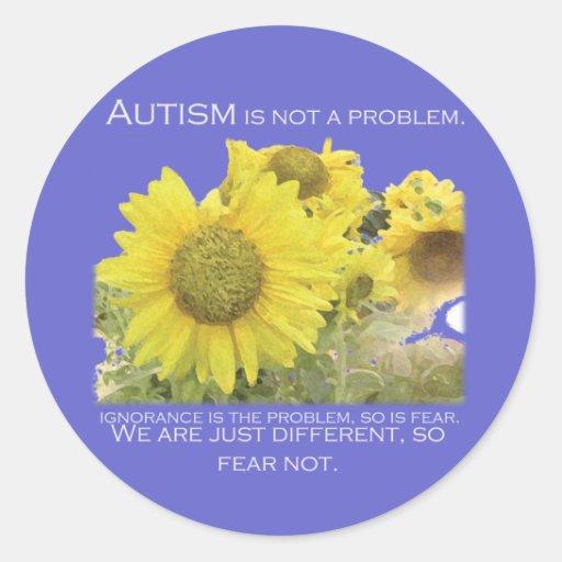 Autism Aware Round Stickers