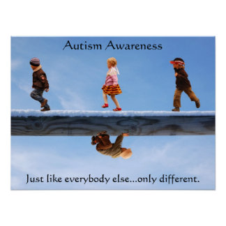 Autism Awareness2 24 x 18 Poster