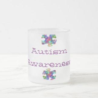 Autism Awareness 10 Oz Frosted Glass Coffee Mug