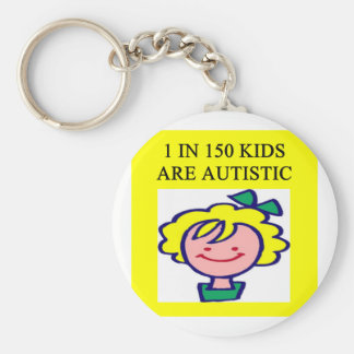 autism awareness 1 in 150 kids is autistic basic round button keychain