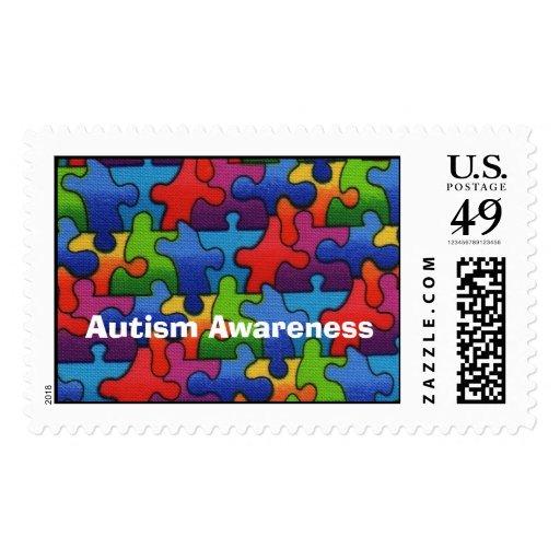 Autism Awareness 1 Postage Stamp