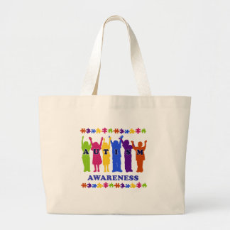 Autism Awareness 2009 Tees and Gifts Large Tote Bag
