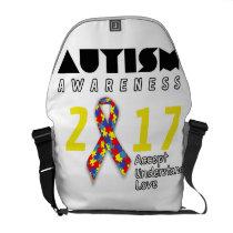 Autism awareness 2017 Autism Courier Bag