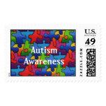 Autism Awareness 2 Postage Stamp