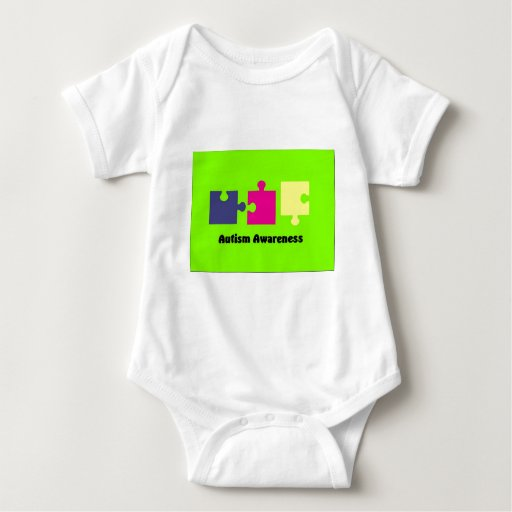 Autism Awareness 3 Puzzle Pieces Baby Clothes Infant Creeper