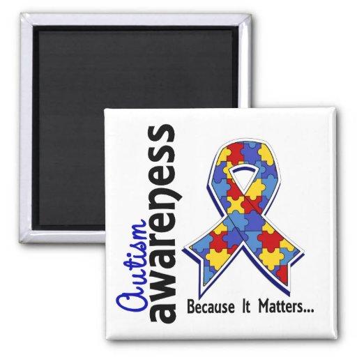 Autism Awareness 5 2 Inch Square Magnet