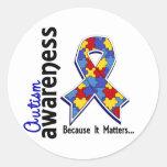 Autism Awareness 5 Classic Round Sticker