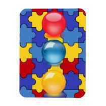 autism, magnet, birthday, wedding, school, education, teacher, red, blue, [[missing key: type_fuji_fleximagne]] com design gráfico personalizado