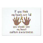 "autism awareness 5"" x 7"" invitation card"