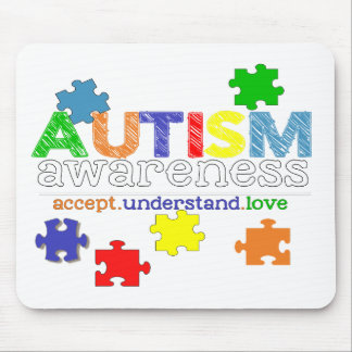 autism awareness accept understand love mouse pad