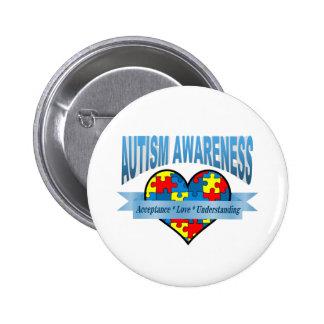 Autism Awareness Acceptance Love Understanding Pinback Button