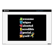 "Autism Awareness Acronym 15"" Laptop Decal"
