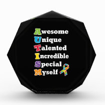 Autism Awareness Acronym Acrylic Award