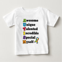 Autism Awareness Acronym Baby T-Shirt