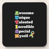 Autism Awareness Acronym Beverage Coaster