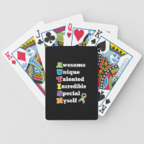 Autism Awareness Acronym Bicycle Playing Cards