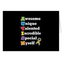 Autism Awareness Acronym Card