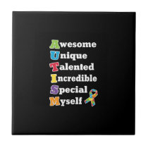 Autism Awareness Acronym Ceramic Tile