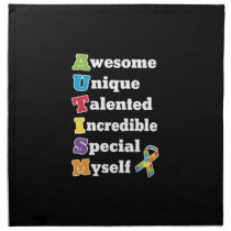 Autism Awareness Acronym Cloth Napkin