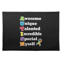 Autism Awareness Acronym Cloth Placemat
