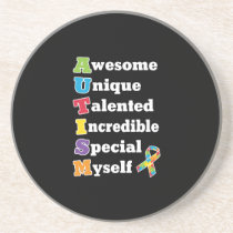 Autism Awareness Acronym Coaster