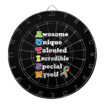 Autism Awareness Acronym Dart Board