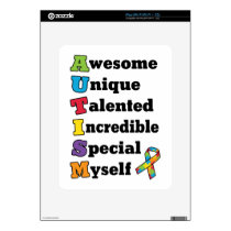 Autism Awareness Acronym Decal For iPad