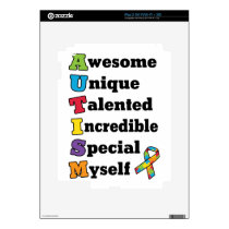 Autism Awareness Acronym Decal For iPad 2