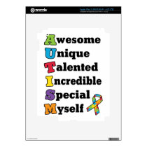 Autism Awareness Acronym Decal For iPad 3