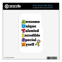 Autism Awareness Acronym Decal For iPod Touch 4G