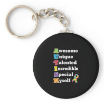 Autism Awareness Acronym Keychain