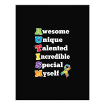 Autism Awareness Acronym Letterhead
