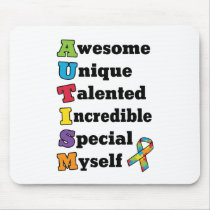 Autism Awareness Acronym Mouse Pad
