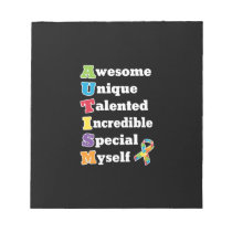 Autism Awareness Acronym Notepad