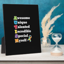 Autism Awareness Acronym Plaque
