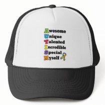 Autism Awareness Acronym Trucker Hat