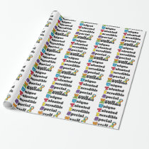 Autism Awareness Acronym Wrapping Paper