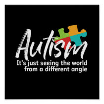 Autism Awareness and Support for Autistic Children Poster