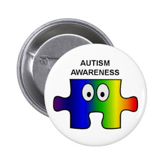 AUTISM AWARENESS AND SUPPORT PINBACK BUTTON