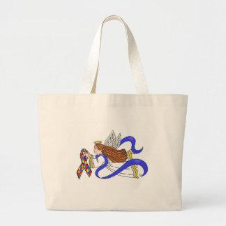 Autism Awareness Angel Tote Bags