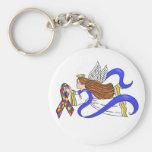 Autism Awareness Angel Keychains