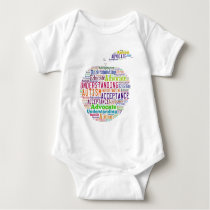Autism Awareness Apple Design Products Baby Bodysuit